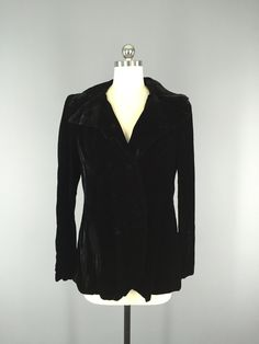 Vintage Silk Velvet Jacket / Edwardian Style