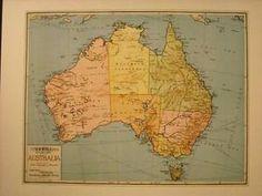 Vintage-Map-Color-Reprint-of-Australia-School-Map