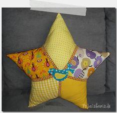 Sternenkissen/ star pillow; pattern by regenbogenbuntes