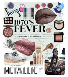 """""""Metallic"""" by georgi-e ❤ liked on Polyvore featuring beauty, Arca, Kevyn Aucoin, Becca, Bobbi Brown Cosmetics, Witchery, Obsessive Compulsive Cosmetics, Urban Decay and NYX"""
