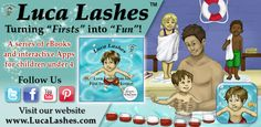 Are you afraid of the #water? Make sure your little one is not by getting them in the water early. Let the Luca Lashes has his First #Swimming Lesson #interactive #App help make the most out of this experience. #Download the today at http://www.lucalashes.com/t-apps.aspx.
