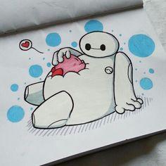 Awww!!!! Kirby & Baymax!