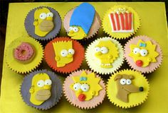 Simpsons Cupcakes by specialcakes/tracey, via Flickr