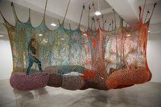 Post image for Ernesto Neto Crochet Nets Reminiscent of Horiuchi's Crocheted Playground