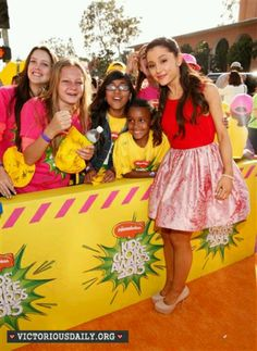 Ariana Grande with fans @ kids choice awards