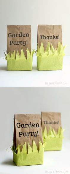These favor bags are perfect for your next garden party - and so easy to make with your printer!