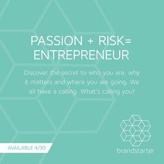 Do you daydream about what life would be like to pursue your passion 100%? Brandstarter will help you put motion behind those dreams. Pre-order at www.getbrandstarter.com #brandstarter #getstarted #entrepreneur #risktaker #inspire #discoveryourgutsy
