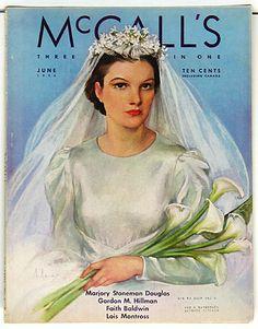 McCall's, June 1936, Neysa McMein €€€€€.....http://www.pinterest.com/peggyw6/brides/  .....€€€€€€€€€€€€€€€€€€€€€€€€€€€