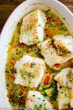 Roasted Cod with Capers & Spanish Olives