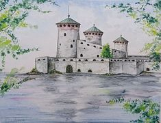 Buy The Olavinlinna Castle Original cityscape watercolor painting by Svetlana Vorobyeva., Watercolor by Svetlana Vorobyeva on Artfinder. Discover thousands of other original paintings, prints, sculptures and photography from independent artists. Watercolour, Watercolor Paintings, Original Artwork, Original Paintings, Handmade Frames, Simple Art, Impressionist, Lovers Art, Custom Framing