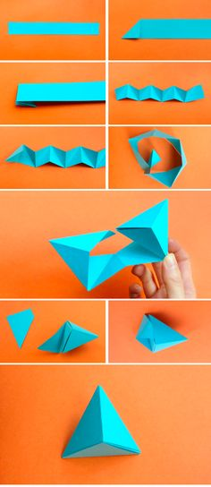 DIY Easy Origami Paper Craft Tutorials (Step by Step) Source by Origami Diy, Origami And Kirigami, Origami Paper Art, Origami Design, Diy Paper, Geometric Origami, 3d Origami Tutorial, Paper Folding Crafts, Origami Wedding