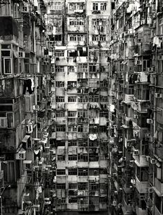 Kowloon Walled City in Hong Kong was demolished in the 90s, but there are still many people living in pretty horrible conditions today.