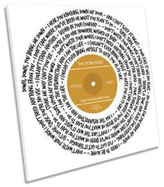 Stone Roses I am the Resurrection Song Lyrics SQUARE CANVAS WALL ART Picture | eBay