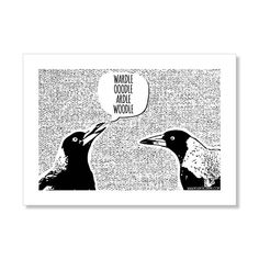 Hey, I found this really awesome Etsy listing at https://www.etsy.com/au/listing/292822175/magpie-talk-tea-towel-cotton-linen-mono