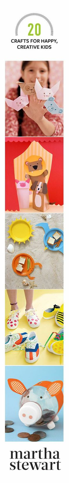 ……♥♥…… 20 Crafts for Happy, Creative Kids