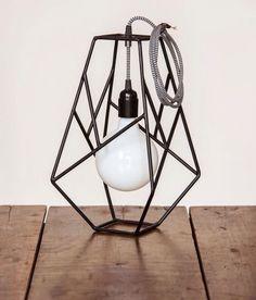 Lámparas Jardínjardin - $ 290,00 en MercadoLibre Cube Furniture, Iron Furniture, Steel Furniture, Furniture Design, Ceiling Light Design, Lighting Design, Diy Crafts To Do, How To Antique Wood, Lamp Design