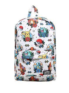 ef721efa5298 Loungefly Pokemon Starters Tattoo Flash Backpack