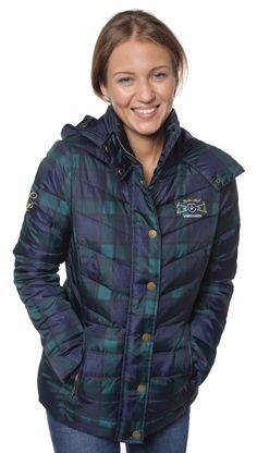 Tienda online | Moda mujer y hombre |  Abrigo acolchado en tonos azul marino y verde de Valecuatro Tienda online | Moda mujer y hombre |