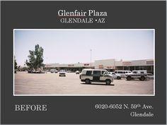 Glenfair Plaza located in Glendale AZ before Re-Development.