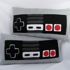 Set of 2 NES Back Pillows Pillow by Estelle de Paris, via Flickr