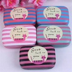 U-beauty 1 Piece Cat Pattern Contact Lens Case Box Kit Set With Small Mirror Color Send in Random
