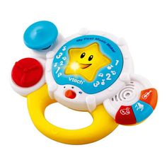 Vtech My First Music Maker This Vtech My First Music Maker introduces instruments and sounds to your child by pushing buttons to hear familiar melodies. Wobble, twist and tap the buttons to play babys favourite tune. http://www.comparestoreprices.co.uk/educational-toys/vtech-my-first-music-maker.asp