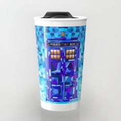 Phone booth Tardis doctor who cubic art iPhone 4 4s 5 5c 6, pillow case, mugs and tshirt #travelmug #mug #wheda #whedapopart #popart #tardis #colorfull #drwho #phonebox #publiccallbox #policephonebox