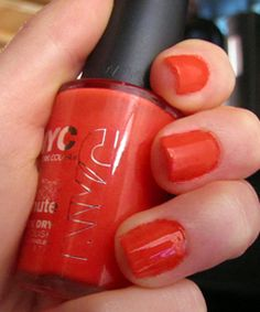 """In love with this color! A beautiful neon orange/pink.  NYC In a NYC Minute #224 """"Times Square"""""""