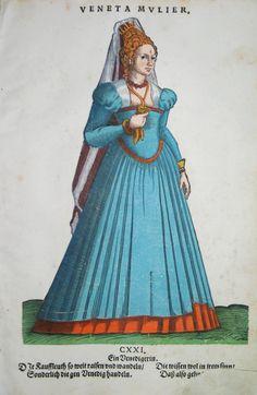 Hans Weigel - VENEDIG / VENEZIA: Veneta Mulier. Ein Venedigerin  1577 http://www.pahor.de/data/product-list/53517.jpg