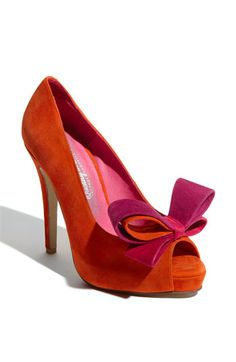 Jeffrey Campbell 'Garret' Pump: pink & orange <3