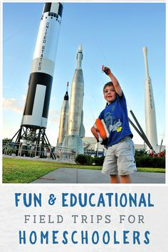 Plan a fun and education field trip for your homeschool children! Space Pioneers, Kennedy Space Center, Space Shuttle, Astronaut, Fun Activities, Kids Learning, Coast, Product Launch, Field Trips