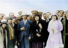 Mustafa Kemal Atatürk and his wife Latife. Early-Republican urban fashion. Ca…
