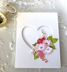 Market Florals  handmade card using Papertrey Ink stamps and dies Marybeth Lopez