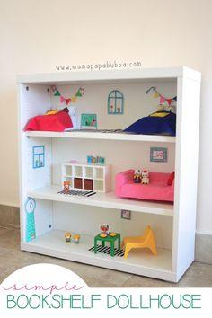 Simple Bookshelf Dollhouse | Mama.Papa.Bubba..jpg