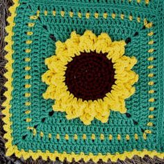 Picture of Sunflower Afghan Crochet Pattern