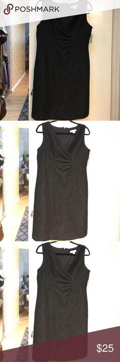 NWT Coldwater Creek crinckled V neck dress Brand new Coldwater Creek crinkled V neck dress, black, size P12 Coldwater Creek Dresses Midi