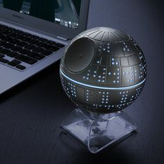 A Glowing Bluetooth Speaker Shaped Like the Death Star from 'Star Wars'