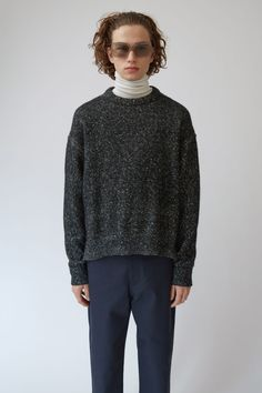 Acne Studios Nole is a boxy fit, dropped shoulder sweater with accentuated outer seams.