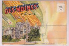 Des Moines Iowa vintage souvenir