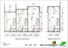 Wij kiezen voor optie 1, een aanbouw van 1.20 meter (middelste huis van de drie)