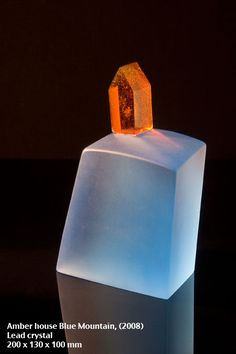 Chris Boha Amber house Blue Mountain (2008) Lead Crystal