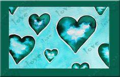 Valentin Art with digital frame,Printable Wall Art,Printable Art,Wall Art,Blue heart,PrintablePoster,Valentin day Printable,Modern Art Print by ARTbyKatinka on Etsy