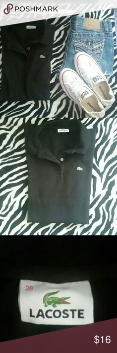 Black shirt Lacoste Lacoste Tops