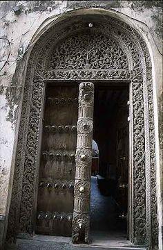 Carved door in Zanzibar