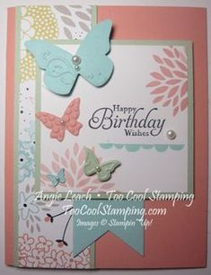 Stampin' Up! Sweet Sorbet dsp, Petal Parade, butterflies!