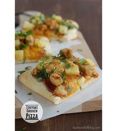 Teriyaki Chicken Pizza | www.tasteandtellblog.com #pizza #recipe via @Deborah Harroun {Taste and Tell}