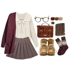 School uniform 3 by hungry-unicorn on Polyvore featuring polyvore fashion style H&M Brooks Brothers Isabel Marant Carvela Kurt Geiger Oliver Peoples Gus* Modern