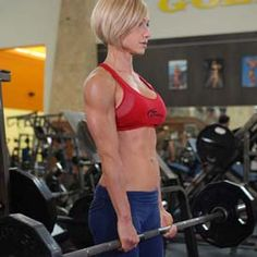 female training bible & 12-week strength training program...whay ever, I just like her hair...and arms.