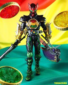 Kamen Rider Ooo, Kamen Rider Series, Sci Fi Characters, Dc Comics, Action Figures, Wonder Woman, Superhero, Anime, King
