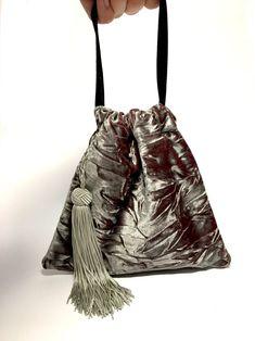 Mini velvet bag with tassel tiny bag cute bag eco friendly | Etsy